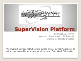 SuperVision Platform - Western New Mexico University