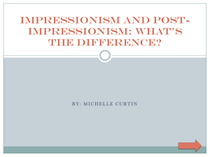 Impressionism and Post-Impressionism: What*s the Difference?
