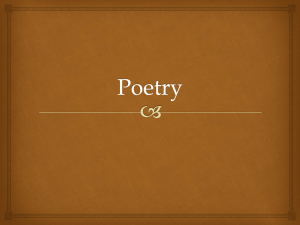 Poetry - NVHS English I