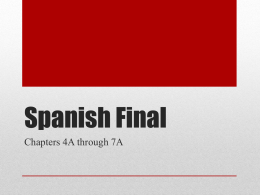 spanish final review Spanishdict is devoted to improving our site based on user feedback and introducing new and innovative features that will continue to help people learn and love the spanish language.