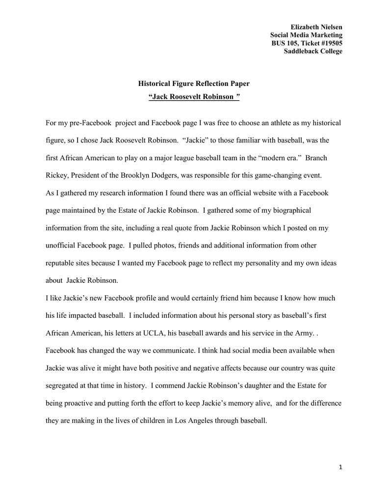 college reflection paper