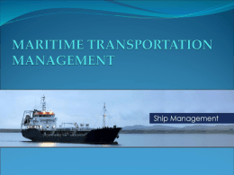 MARITIME TRANSPORTATION MANAGEMENT
