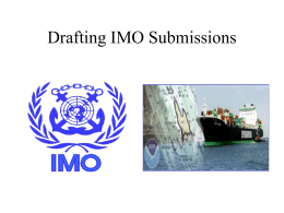 Drafting IMO Submissions: Ships' Routing and Reporting Systems