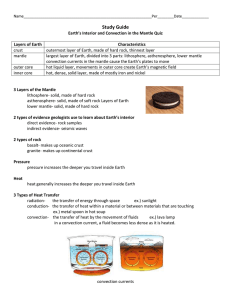 Plate Tectonics Sections 1 & 2 Quiz Study Guide