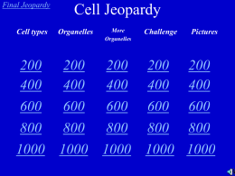 Cell Jeopardy - Bryn Mawr School Faculty Web Pages