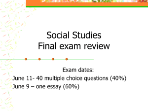 Final exam review - Sewanhaka Central High School District