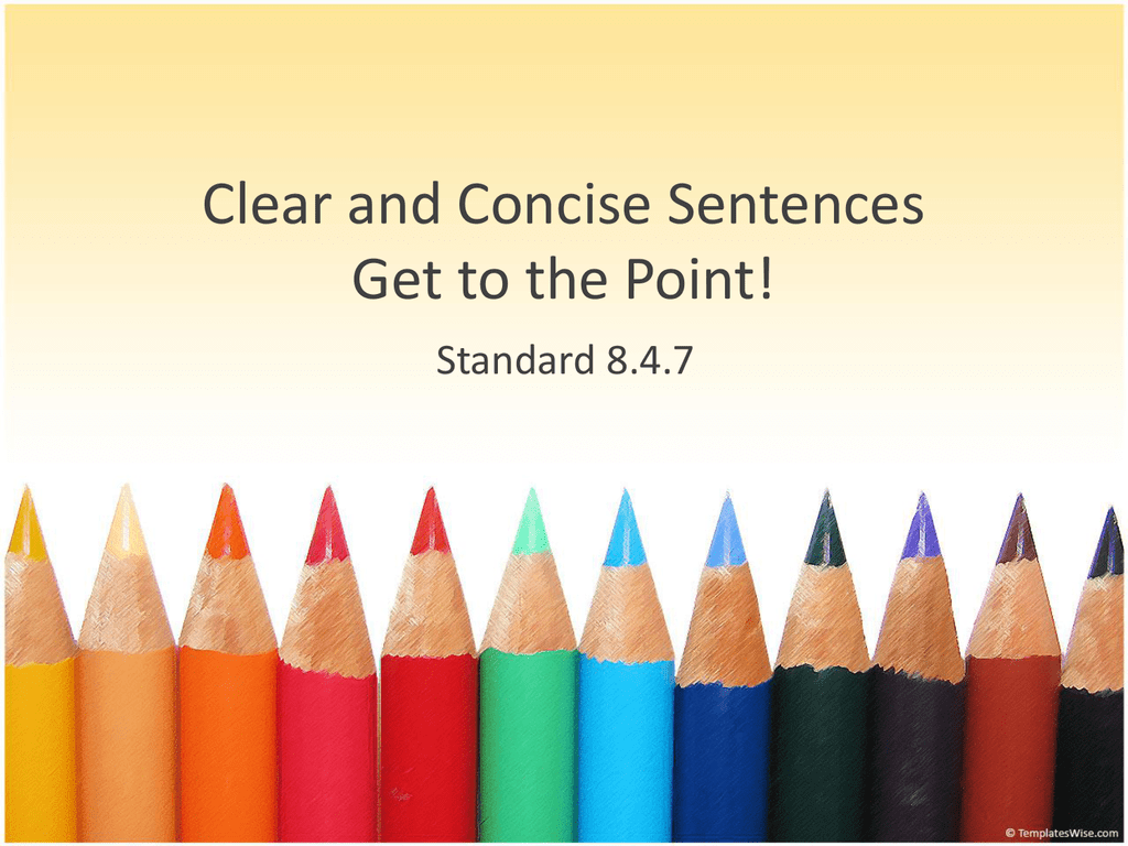 writing concise sentences