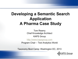 Developing a Semantic Search Application