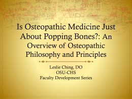 A Short History of Osteopathic Medicine
