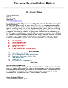 US I Honors Course Syllabus 14