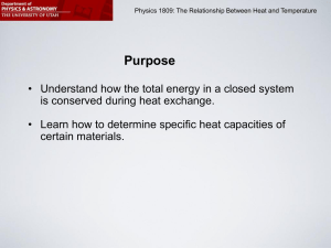 The Relationship between Heat and Temperature