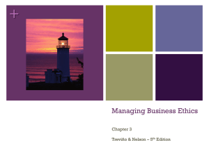 Managing Business Ethics Chapter 5