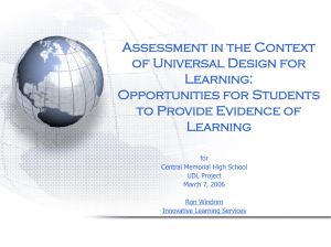 Understanding Assessment in the context of UDL