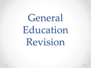 General Education Revision Presentation