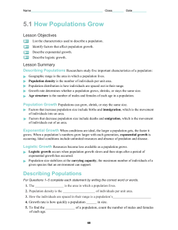 Population Growth Worksheet - FREE to Download Printable Earth ...