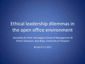 Ethical dilemmas in the open office environment