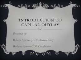 Introduction to Capital Outlay - New Mexico State Agency on Aging