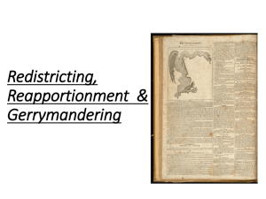 Redistricting, Reapportionment and Gerrymandering
