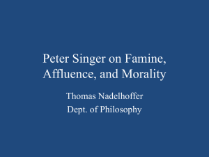 Singer on Affluence and Morality