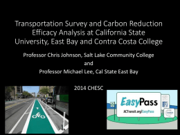 Transportation Survey and Carbon-Reduction Efficacy Analysis at