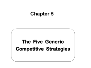 Chapter 5 - Generic Strategies