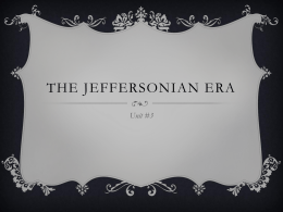 The Jeffersonian Era