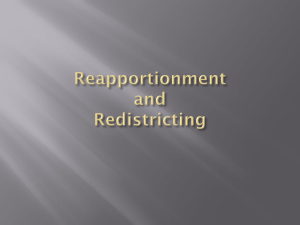 Reapportionment and Redistricting