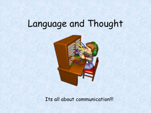Language and Thought - AP Psychology Community