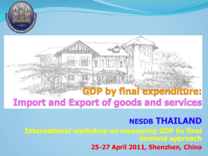 Import and Export of Goods and Services in Thailand