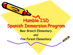 Humble ISD Spanish Immersion Program