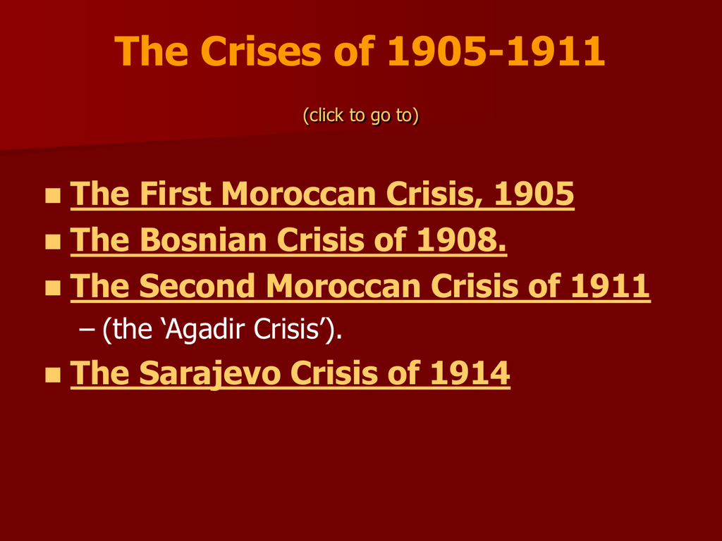 what was the moroccan crisis