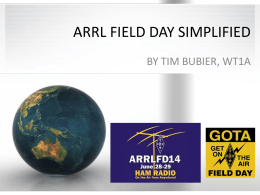 arrl field day simplified - Androscoggin Unified EMA