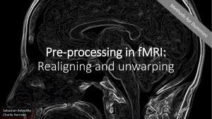 Pre-processing: Realigning and unwarping