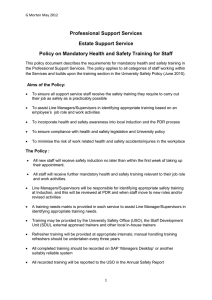 Training Policy