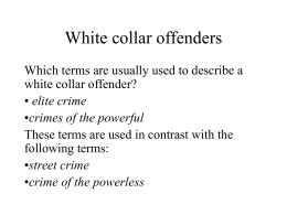 White collar offenders