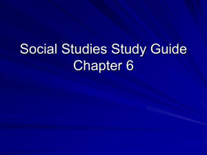 Social Studies Study Guide Chapter 6