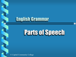 Parts of Speech - Capital Community College