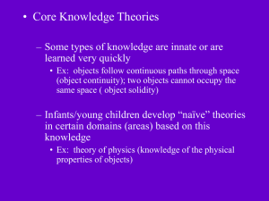 Core Knowledge Theories