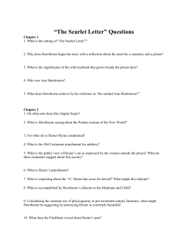The scarlet letter essay prompts