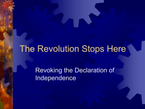 The Revolution Stops Here: Revoking the Declaration of