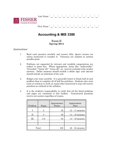 Accounting & MIS 3300