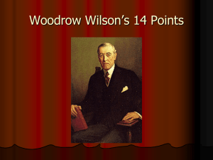 Woodrow Wilson's 14 Points