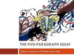 Romeo and juliet literature essays