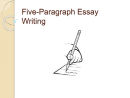Five-Paragraph Essay Writing