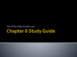 Chapter 6 Study Guide Review