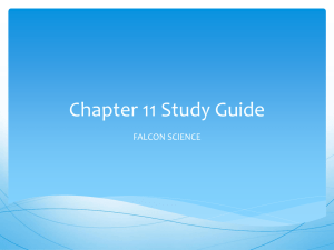 Chapter 11 Study Guide ppt