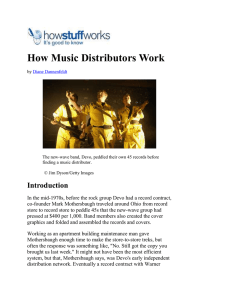 How Music Distributors Work
