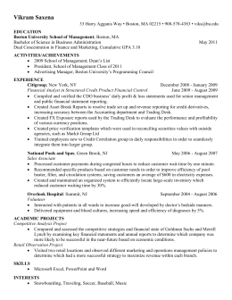my resume - WordPress.com