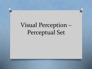 Visual Perception * Perceptual Set