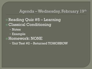 Agenda * Wednesday, February 19th